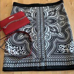 Rafaella black and white stretchy skirt. EUC